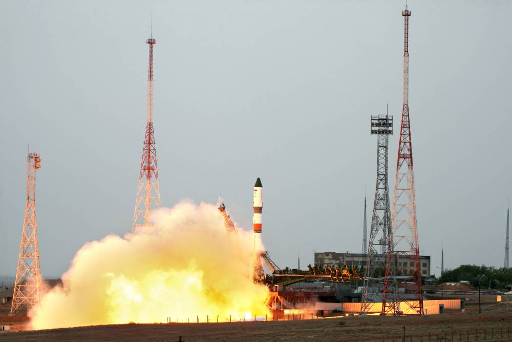 Запуск Союз МС - 12 с космодрома Байконур